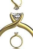 Wedding Ring with diamond. Jewelry background - 69179746