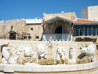 Jaffa Fountain with sculptures of zodiac signs 2011