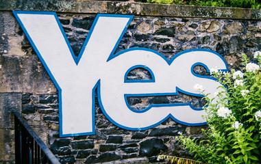 Scottish Independence Referendum Sign
