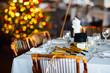 Obrazy na płótnie, fototapety, zdjęcia, fotoobrazy drukowane : Table setting for Christmas party