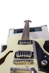Electric guitar with amplifier 1