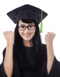 Female student celebrate her graduation 1