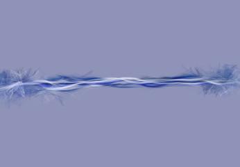 Particelle astratte flusso blu su sfondo blu