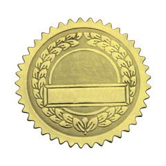 Blank Gold Graduate Seal