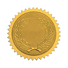 Blank Gold Honor Seal