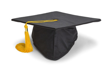 Resting Black Grad Hat