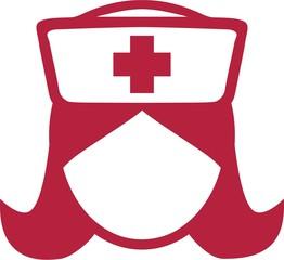 Krankenschwester Piktogramm Kopf Symbol