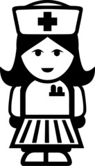 Krankenschwester Piktogramm Symbol
