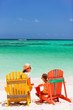 Mother and daughter on Caribbean vacation