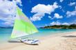 Catamaran at tropical beach