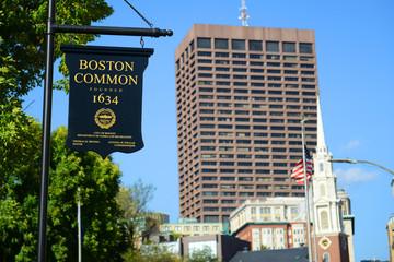 Boston Common sign, Boston, Massachusetts, USA