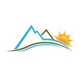 Fototapety Mountains and Sun image logo