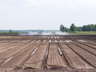 Farmland with irrigation system