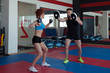 Training of muscular athletes in gym