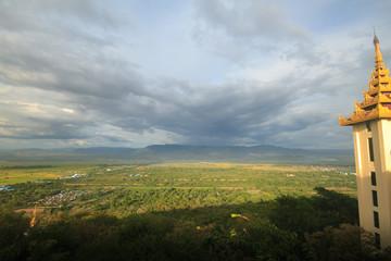 Mandalay city View from Mandalay hill