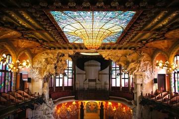 カタルーニャ音楽堂 ステンドグラス スペイン