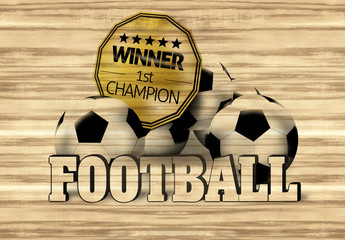 Football Wood Design