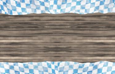 Bavaria Wood Oktoberfest Flag Design Background