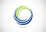 circle swirl abstract vector logo