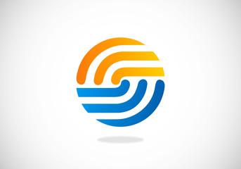 circle round vector logo
