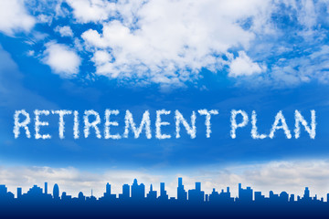 Retirement plan text on cloud