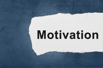 motivation with white paper tears