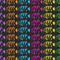 Seamless wallpaper fish. Vector illustration