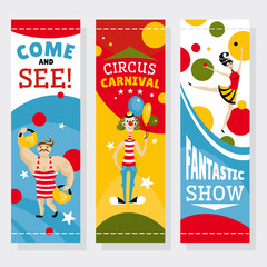 Circus banners