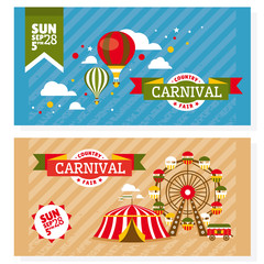 Country fair vintage invitation cards