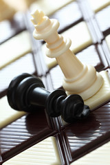 Defeat (chess on the chocolate chessboard)
