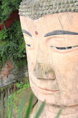 one of the world's largest budga statue in leshan,sichuan,china