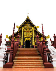Ornate entry into temple in Chiang Mai
