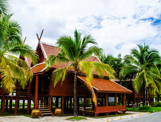 Thai house of the old northern style