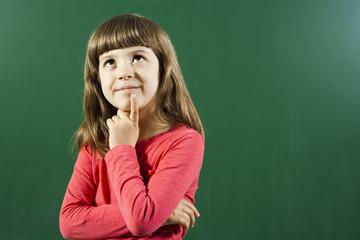 Little girl wondering