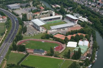 Vue aérienne complexe sportif de Metz - Moselle - France