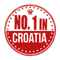 Number one in Croatia stamp