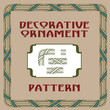 Vector set of abstract elements for creating borders and frames