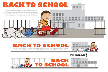 Template for decoration and design theme back to school