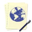 Dessin au stylo : Planète B - 69188788