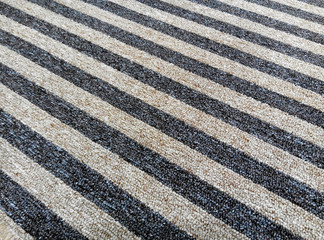 Striped Carpet in blue and white color
