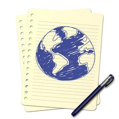 Dessin au stylo : Planète B