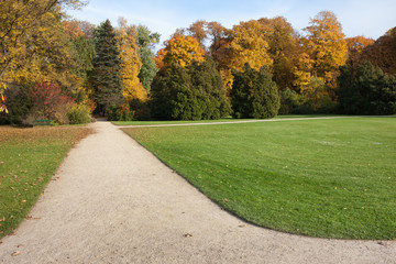 Royal Lazienki Gardens in Warsaw
