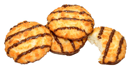 Chocolate Coconut Macaroon Biscuits