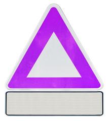 triangle et panonceau de signalisation