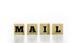 Letter Tiles Spelling the Word Mail