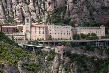 Santa Maria de Montserrat Monastery in Spain