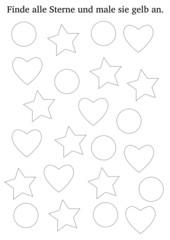 Arbeitsblatt: Formen finden