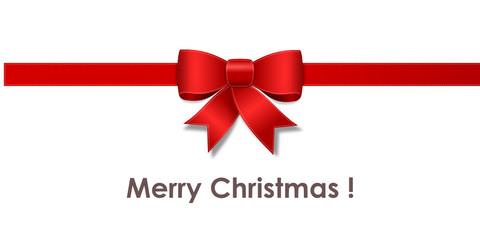Bow merry christmas