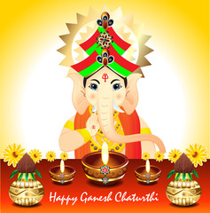 Abstract Ganesh Chaturthi Background