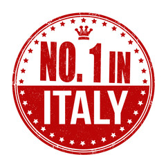 Number one in Italy stamp